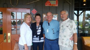 Henry, Pat, Cheryl & Bob enjoy breakfast in Port Charlotte.