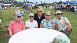 The Lucy's, John Luther, and the Kuba's take in an International Food Festival in Punta Gorda.